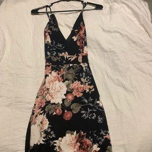 Windsor black lace up party dress